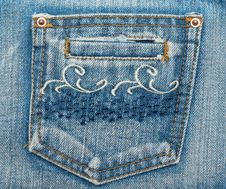 Free Jeans Pocket Royalty Free Stock Image - 9722576