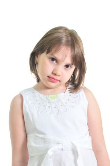 Free Sad Little Girl Royalty Free Stock Images - 9722609