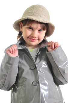 Free Beautiful Girl In The Raincoat Stock Images - 9722664