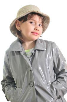 Free Beautiful Girl In The Raincoat Royalty Free Stock Image - 9722716
