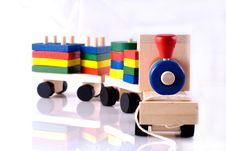 Free Wooden Toy, Steam Locomotive Stock Photo - 9722990