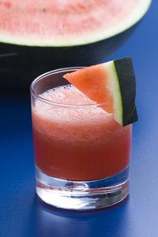 Refreshing Cold Watermelon Juice Stock Photos