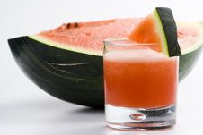 Refreshing Cold Watermelon Juice Royalty Free Stock Images