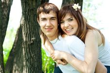 Free Happy Couple In The Park Stock Images - 9723574