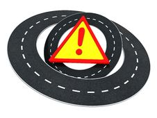 Free Road Warning Royalty Free Stock Photography - 9723767