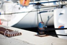 View Of Harbour In Rovinj Stock Images
