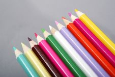 Free Colored Pencils Royalty Free Stock Image - 9724476