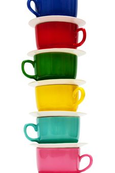 Free Color Cups Royalty Free Stock Photography - 9724667
