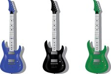 Free Vector Series. Electric Guitars Royalty Free Stock Photos - 9727128