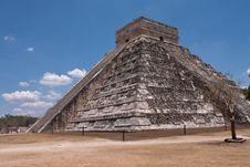 Chichen Itza Pyramid Stock Photo