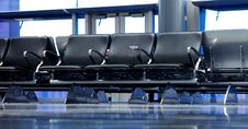 Empty Seats At Airport Gate Royalty Free Stock Photos