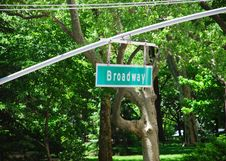 Free Broadway Sign In New York Royalty Free Stock Photos - 9728608