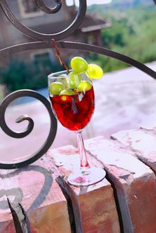 Bloody Red Wine Green Bunch Stock Image
