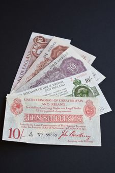 Free Ten Shilling British History Royalty Free Stock Image - 9728756