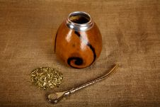 Free Argentinean Calabash With Bombilla Royalty Free Stock Photography - 9729197