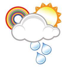 Free Raincloud, Sun And Rainbow Stock Photography - 9729542