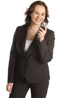 Businesswoman Text Messaging On Mobile Phone Royalty Free Stock Image