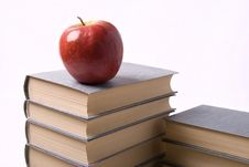 Free Apple And Books Stock Image - 9729661