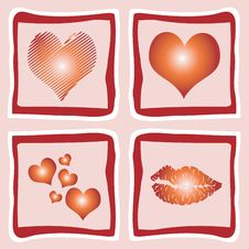 Free Hearts And Lips Stock Images - 9729934