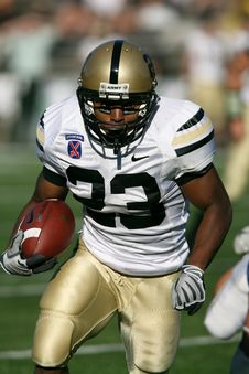 Free Man Wearing White Nike 23 Football Jersey On Green Field Stock Photography - 97208022