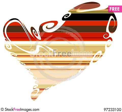 Free Heart, Colorful Design, Lines Abstract Background Stock Photo - 97233100