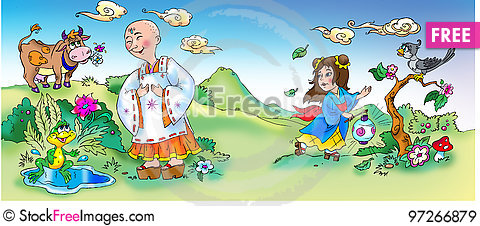Free Asian Fairytale Scene Royalty Free Stock Images - 97266879