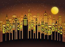 Free Yellow, Text, Metropolis, Night Stock Photos - 97277083