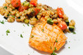 Free Salmon With Vegetables Royalty Free Stock Photos - 9731258