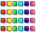 Free Rainbow Button Squares Royalty Free Stock Photos - 9735548