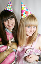 Free Two Woman Celebrating Birthday Royalty Free Stock Photography - 9736317
