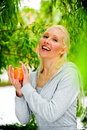 Free Portrait Of Healthy Young Blond Woman Stock Image - 9739621