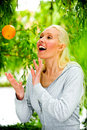 Free Portrait Of Healthy Young Blond Woman Royalty Free Stock Image - 9739636