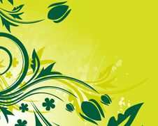 Free Green Floral Background Stock Photography - 9731162