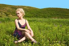 Free Woman On Nature Royalty Free Stock Photos - 9732088
