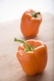 Free Orange Peppers Royalty Free Stock Photography - 9733557