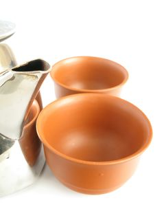 Free Teapot With Cups Stock Photo - 9733670