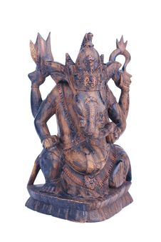 Free Wooden Statuette Of Hindu God Ganesh Stock Photos - 9734453