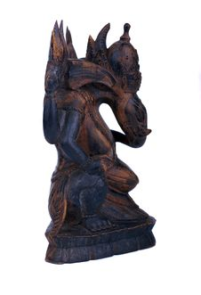 Free Wooden Statuette Of Hindu God Ganesh Stock Photos - 9734473