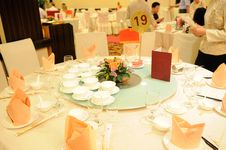 Marriage Banquet Royalty Free Stock Photography