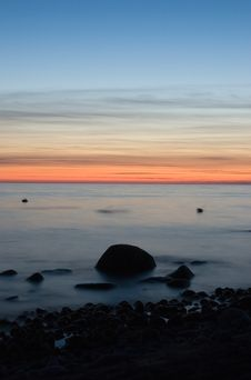 Free Baltic Seaside After Sunset Stock Photo - 9735350
