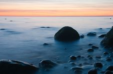Free Baltic Seaside After Sunset Stock Photos - 9735363