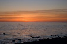 Free Baltic Seaside After Sunset Stock Photography - 9735462