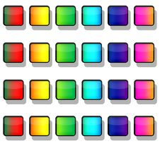 Rainbow Button Squares Royalty Free Stock Photos