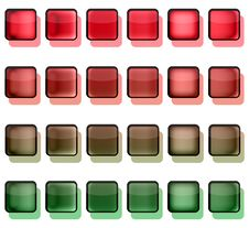 Red And Green Button Squares Stock Photography