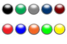 Free Shiny Buttons Royalty Free Stock Photo - 9735905