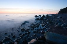 Baltic Seaside After Sunset Royalty Free Stock Photography