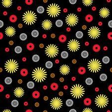 Free Seamles Black Floral Royalty Free Stock Photos - 9736278