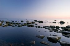 Free Baltic Seaside After Sunset Stock Images - 9736324