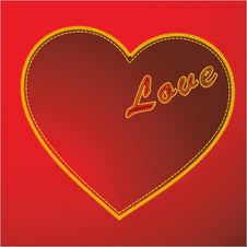 Free Stitched Love Vector Stock Photo - 9736350