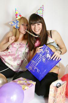 Free Two Woman Celebrating Birthday Stock Photo - 9736510